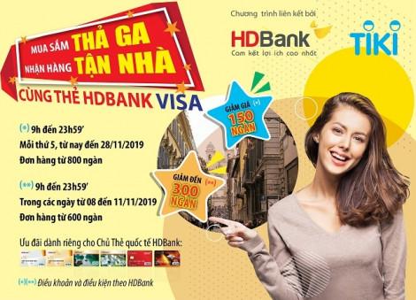 Chủ thẻ HDBank được ưu đãi lên đến 30% khi mua sắm cuối năm