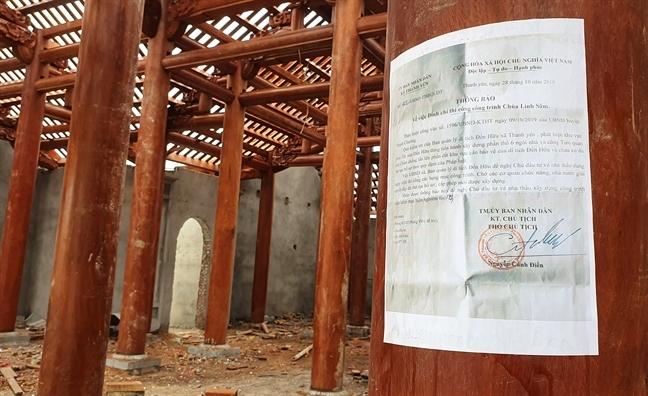 UBND tinh Nghe An chi dao xu ly vu chua khong phep xay lan di tich quoc gia