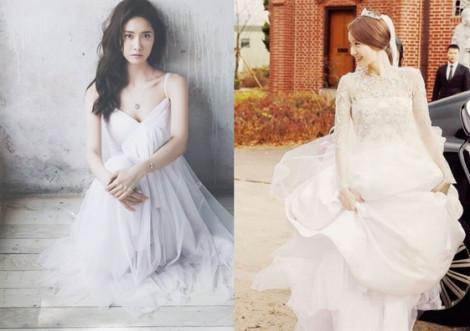 Mỹ nhân Hàn đẹp mê mẩn khi diện váy cưới