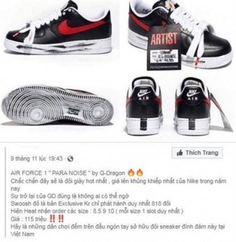 Đôi giày 4,5 triệu ở Hàn Quốc về Việt Nam hét giá 200 triệu đồng