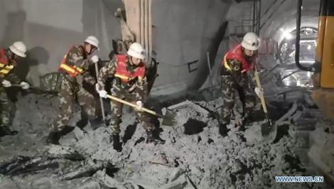 Sập đường hầm cao tốc ở Trung Quốc, 4 người chết
