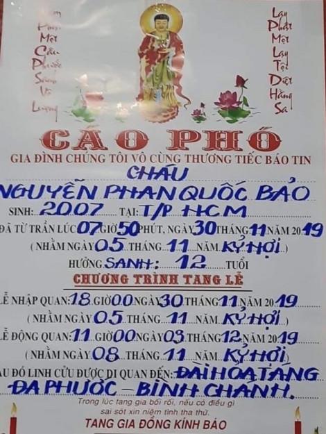 Học sinh lớp 7 tại Sài Gòn đột tử khi tham gia lớp năng khiếu bóng đá