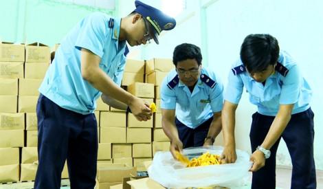 Bắt giữ 26 tấn xoài nhập lậu qua biên giới Tây Nam