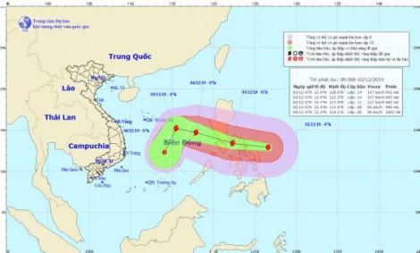 Siêu bão Kammuri đang tiến vào Biển Đông, đe dọa SEA Games 30