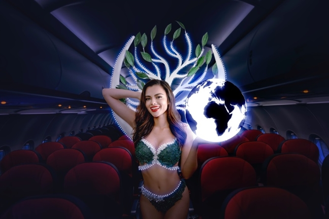 Hoa hau lien luc dia Karen Gallman 'Bao ve hanh tinh xanh - Bay nhanh cung Vietjet'