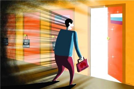 Bị Mỹ 'cấm cửa', Huawei hướng sang Nga