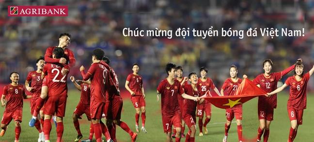 Agribank tang 2 ty dong cho 2 doi tuyen bong da nam va nu Viet Nam