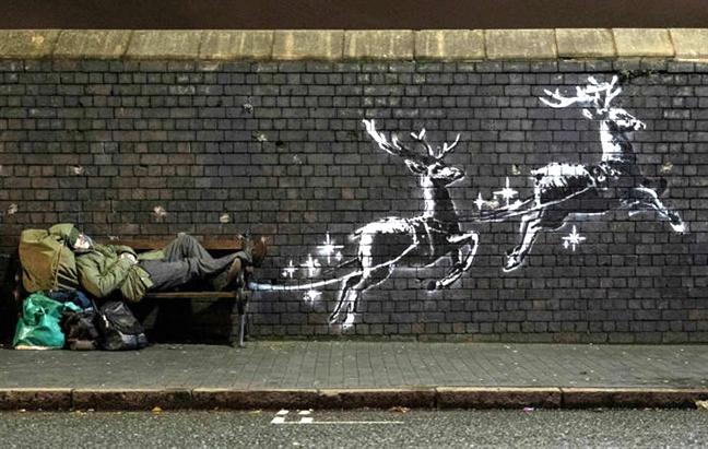 Thong diep Giang sinh  cho nguoi vo gia cu cua Banksy lai gay sot
