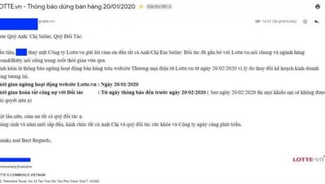 Lotte.vn ngưng hoạt động từ ngày 20/1/2020