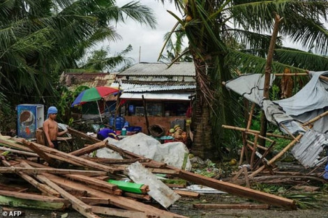 Bão Phanfone khiến ít nhất 16 người thiệt mạng tại Philippines