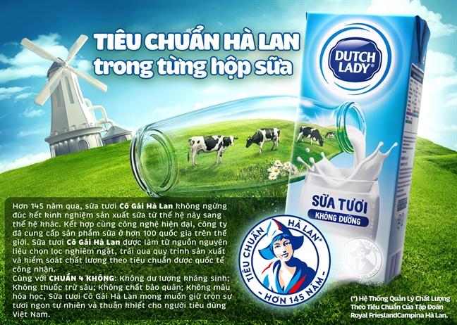 Co Gai Ha Lan tu hao co nguon sua nguyen lieu lon va an toan hon chuan 11 lan