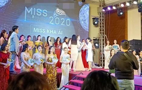 Lập biên bản một cuộc thi hoa hậu 'chui'