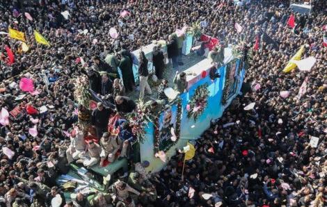 35 người thiệt mạng vì giẫm đạp nhau tại tang lễ tướng Soleimani ở Iran