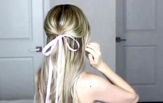 Clip: Hướng dẫn tóc buộc nơ điệu đàng xuống phố ngày xuân
