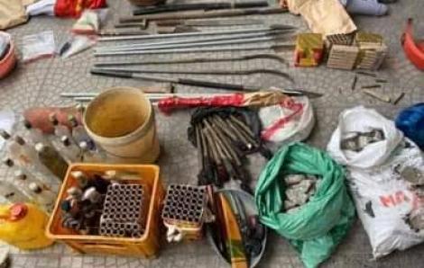 Bắt các đối tượng gây rối, thu giữ lựu đạn, bom xăng ở xã Đồng Tâm