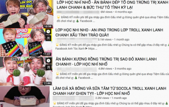 Lại thêm một kênh YouTube có nội dung nguy hại cho trẻ em