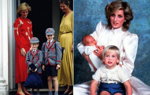 Nhìn lại những ngày xưa thân ái của anh em Hoàng tử William và Harry