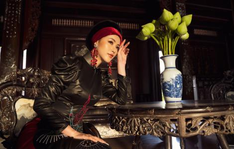 Hoa hậu Phương Khánh kiêu kỳ với lụa chirimen