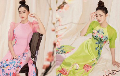 Hoa hậu Lương Thùy Linh gợi ý áo dài tay lửng trẻ trung cho nàng vui Tết