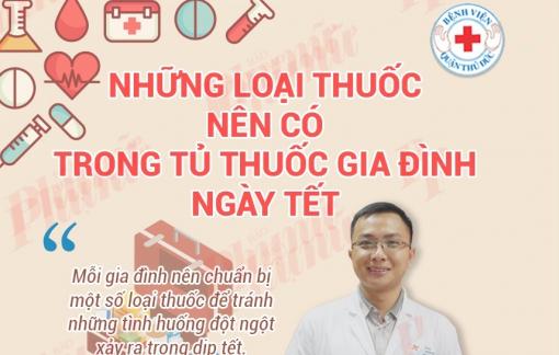 Trữ sẵn những loại thuốc sau để không đến bệnh viện ngày Tết