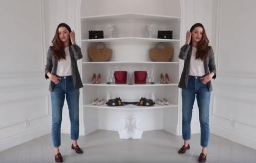 Gợi ý cách phối áo thun trắng và quần jean theo 6 phong cách