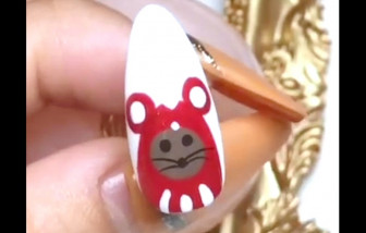 Clip: Cách vẽ những mẫu nail hình chuột đáng yêu chào xuân Canh Tý 2020