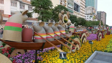 Toàn cảnh đường hoa Nguyễn Huệ Xuân Canh Tý 2020 mở cửa đón người dân thưởng ngoạn
