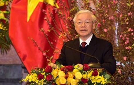 Tổng Bí thư, Chủ tịch nước Nguyễn Phú Trọng chúc tết các vị lãnh đạo, nguyên lãnh đạo Đảng, Nhà nước