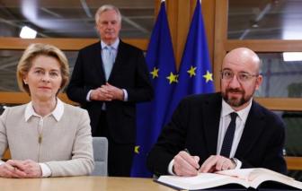 Các nhà lãnh đạo châu Âu ký thông qua thỏa thuận rút lui của Anh khỏi EU