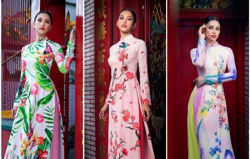 Hoa hậu Tiểu Vy thanh lịch trong tà áo dài du xuân đầu năm
