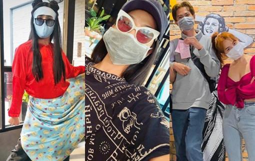 Lo lắng virus corona, sao Việt đeo khẩu trang khi đến nơi đông người