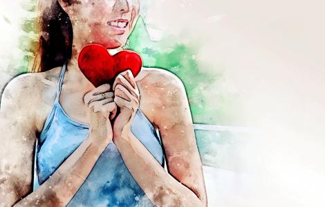 Trái tim quay ngược sẽ có hình mũi tên