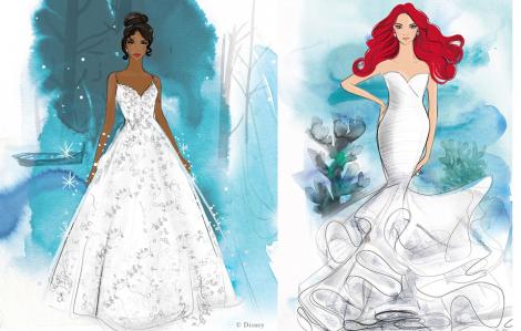 Váy cưới giá 28 triệu lấy cảm hứng từ công chúa Disney