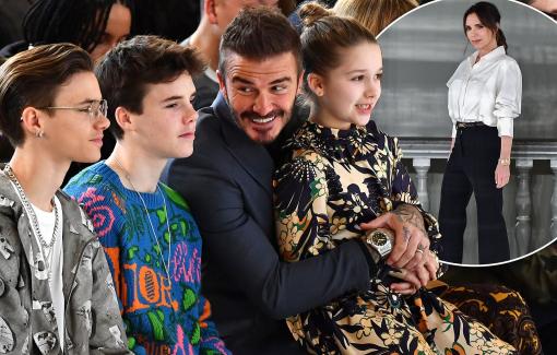 David Beckham và các con thời trang 'hết nấc' tại show của bà Beck