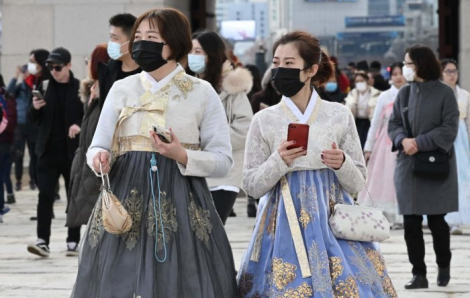 Hàn Quốc có thêm 100 người nhiễm COVID-19, nâng tổng số ca lên 204