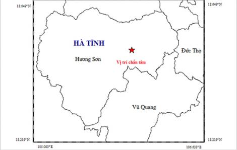 Hà Tĩnh xảy ra động đất tại xã miền núi huyện Hương Sơn