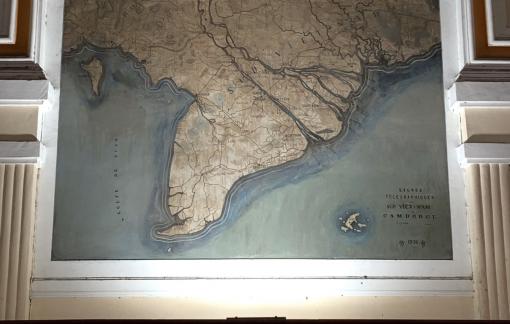 Hoàn thành phục chế bản đồ ở Bưu điện TPHCM trước tiến độ