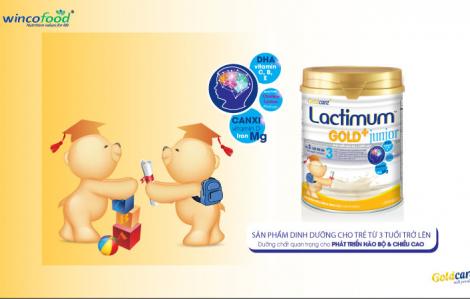 Chăm sóc trẻ lên 3 mùa dịch bệnh COVID-19 với Lactimum gold + Junior  (Wincofood)