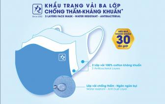 Công ty Anh Khoa cải tiến thêm tính năng chống thấm cho khẩu trang vải kháng khuẩn